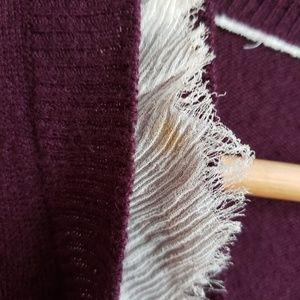 J. Crew Sweaters - J. Crew Cardigan with Frayed Chiffon Ruffle
